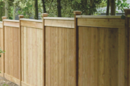 Wood fences are a very popular choice in the area. They provide a nice warm wood feel that adds to the curb appeal and style that some property owners love. Wood fences come in a lot of different styles and there are a lot of custom fence installations that can be done, or you can pick with some of the standard installation styles.